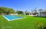 Large pool with baja step and water features