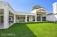 Large patio with indoor/outdoor living in mind.