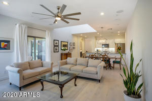 Access the large patio from the living area or the secondary bedroom.
