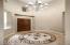 Rotunda ceiling. Tile medallion accent.