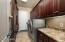 Lots of storage cabinetry.