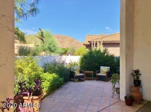 Custom home with views of South Mountain