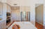 Stainless steel appliances and walk in pantry