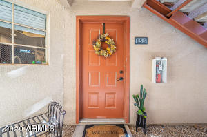 Check out this adorable ONE bedroom, ONE bathroom Condo on the ground floor with a SPARKLING POOL view. PRIME LOCATION! Scottsdale address bordering Paradise Valley! DIRECT ACCESS to Stonecreek Golf Course. Walking distance to grocery stores, restaurants/shops and a Short drive to Mayo Clinic, TPC Golf Course, Kierland Shopping .  This beautiful home has laminate floors, Shaker White cabinets with dove tail and soft close, granite countertops, stainless/black appliance package, undermount stainless steel kitchen sink, and brushed nickel faucet. Washer & Dryer INCLUDED, ceiling fans & recessed LED Lighting. Community has a heated pool/spa and fitness center.