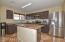 Granite countertops; stainless steel appliances, butcher block island!