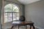 Spacious office/bonus room which can be easily converted to a 3rd bedroom, arched window, and double doors.