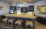 Poolhouse/Casita oversized island with seating for 4.