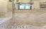 Herringbone flooring and wall tile in Jack in Jill bath.