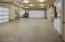 Oversized 5 car epoxy garage with sink, washer/dryer, cabinets, workspace