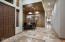 Travertine flooring & freshly painted interior