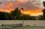 Sunsets from the two tennis courts.