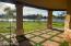 Stylized Back patio with beautiful lake views