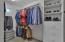 Each closet has built-ins making organization a breeze.