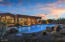 Even the pool highlights the amazing colors in the sky!