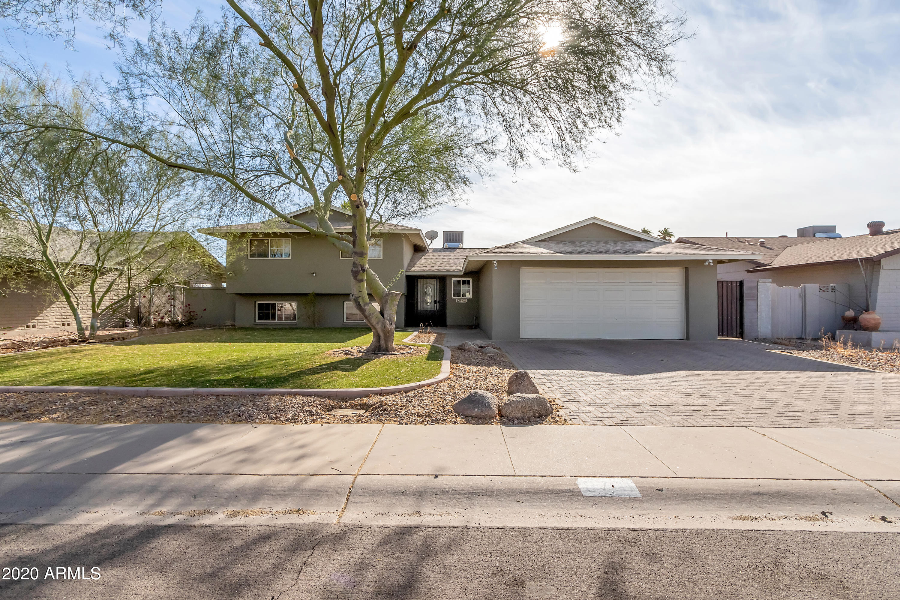 Great family home on a cul-de-sac street, and this popular Hallcraft floor plan is well maintained and rent includes pool and yard maintenance.  It is located in a very desirable Scottsdale location as 87th street is two streets in from Pima Rd in a very quiet circle of homes, and low traffic area and convenient to loop 101 & downtown Scottsdale.  It also features den/office and lots of additional closet/storage space.  Two car garage.