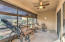 Entertain or relax in the screened-in patio. Shades come down if you choose