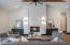 Full Quartz slab facing on fireplace