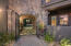 Private and gated courtyard entry.