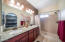 Master Bath with Granite Counter and Double Sinks