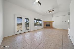 Living room - Double doors to back patio