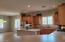 Extra large kitchen, with eat in kitchen area, island and breakfast bar