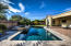 The Sparkling Pool and Spa are the centerpiece to your own private Oasis in the Desert.