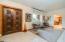 Original custom wood door welcomes you to your new home.