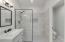 walk in shower w/tile surround