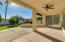 covered patio w/ceiling fan