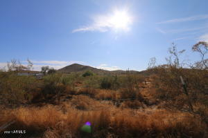 Lot is full of beautiful desert landscape. Clear Mountain Views.