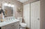 The private guest casita features the home's third full bathroom