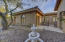 Charming 2 bedroom Casita features a courtyard entry, living room with kitchen and 2 bedrooms
