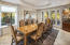 Dining room is spacious and offers french doors to the patio for easy indoor/outdoor entertaining.