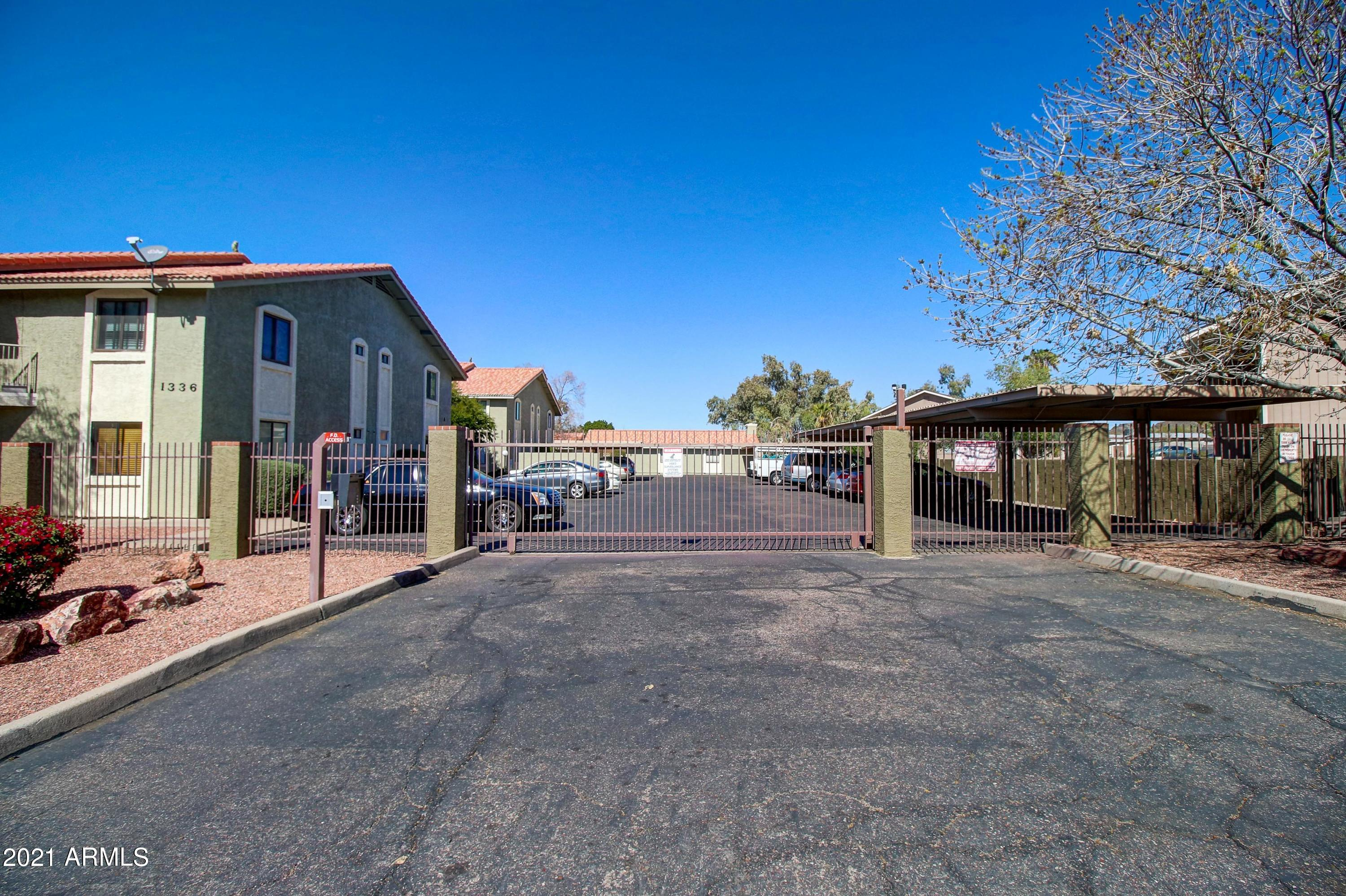 Great Investor or end-user opportunity in this quiet 18 unit complex located in the terrific Sunnyslope HS area!   One covered parking space is included. Gated parking and community entrance. No SPDS or CLUE as seller has never occupied the unit. No conventional, FHA or VA financing.  Unit is tenant occupied and will be shown ONLY with accepted offer.