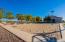 Volleyball court in relation to RV garage