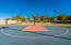 North hoop on sports court
