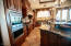 Kitchen with divine Cherry Wood Cabinets, Wolf double ovens & warming drawer + TOO MANY custom details to name