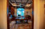 Office w/ Custom Built-ins (Bedroom #4), beautiful crown molding ceilings. ALL bedrooms have own bathroom & walk-in closet