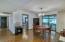 Dining area with pergo flooring