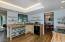 Another view of Newly remodeled Kitchen with modern open shelving