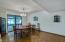 Super nice dining room area with pergo flooring!