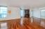 Gorgeous wood floors throughout the living and dining areas.