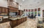 Kitchen has plenty of space for family and friends