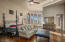 Master Suite with wood floors, sitting room, fireplace, and coffee bar