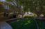Artificial turf in side yard