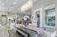 Eat in kitchen w/elegant chandeliers