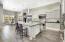 Counter to ceiling backsplash