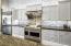 GE Monogram gas stove with 48' Pro Hood