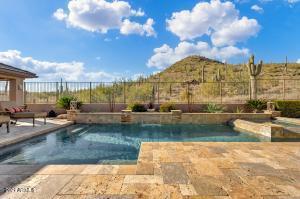 Gorgeous backyard oasis with stunning mountain views