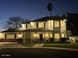 This home is stunning at night!